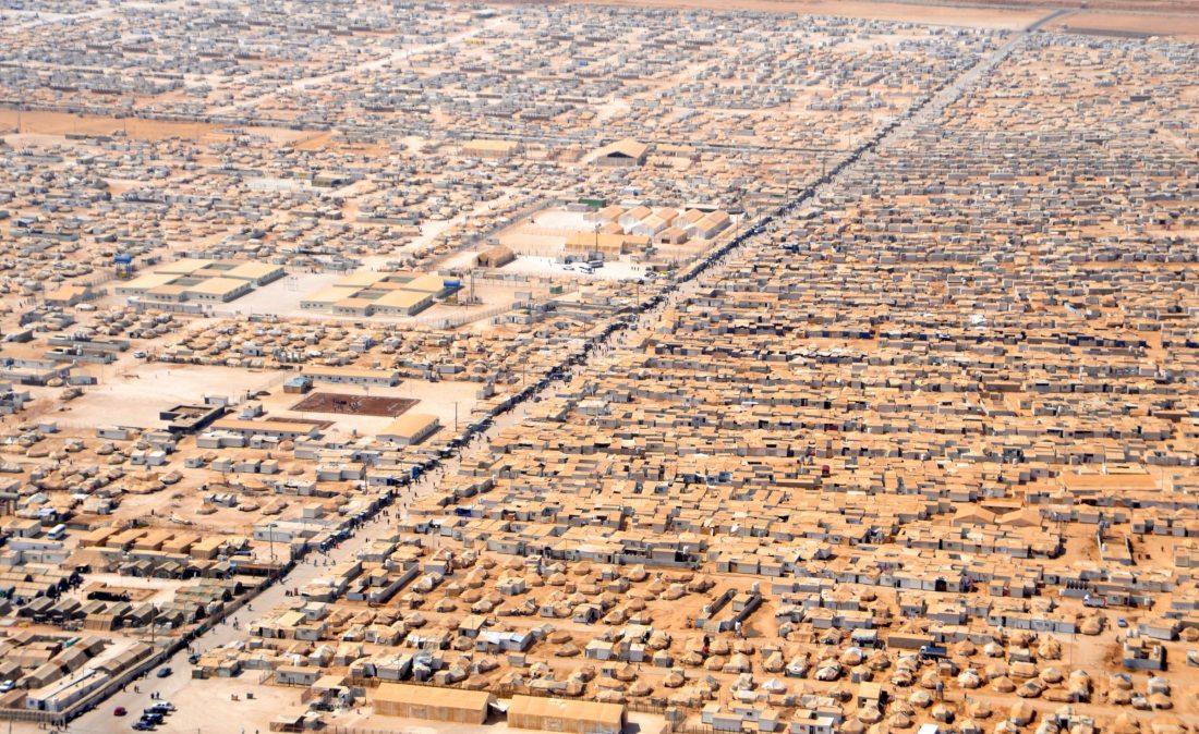 Zaatari flyktingläger i Jordanien